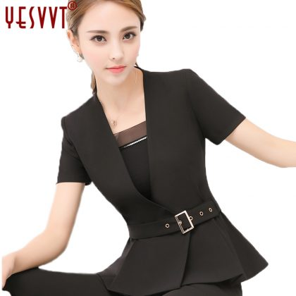 Women Blazer Set Formal Skirt Suit