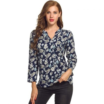 Women Tops Floral Print Blouse