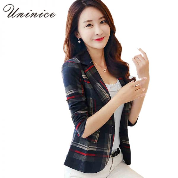 Women blazer Coat One Button Outerwear
