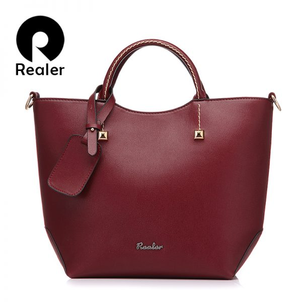 Bucket Shoulder Bag Leather Tote Bags