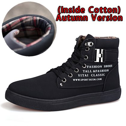 Casual Ankle Boots Warm Leather Footwear