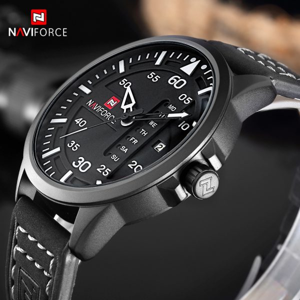 Casual Men's Watches Leather Business Quartz-Watch