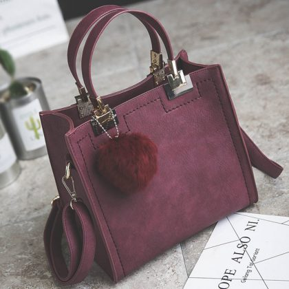 Casual Tote Bag PU Leather Handbag