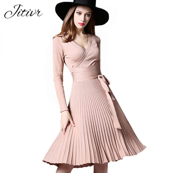 Elegant Office Dresses Women Decorative Sashes