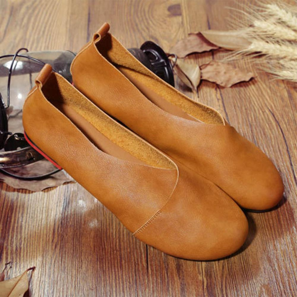 Genuine Leather Flat Shoes Spring Casual Shoes