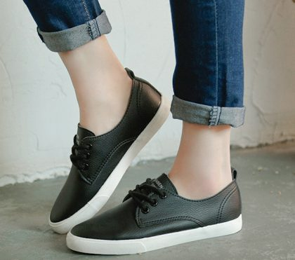 Leather Women Shoe Casual Leather Shoes