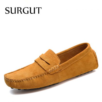 Moccasins Men Loafers Genuine Leather Shoes
