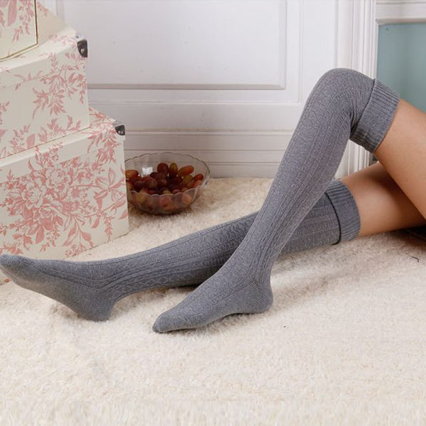 Warm Long Cotton Stocking Over Knee Stocking