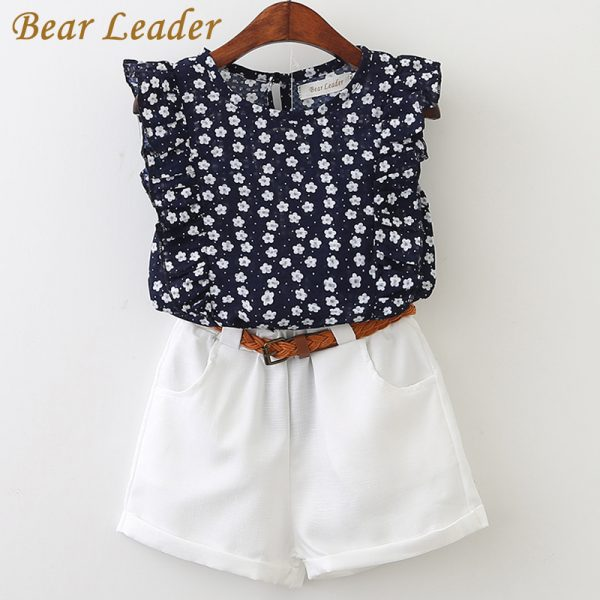 Casual Children Sets Flowers T-shirt & Pants