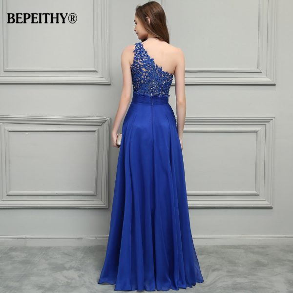 Chiffon Long Prom Dresses Lace Vintage Evening Dress
