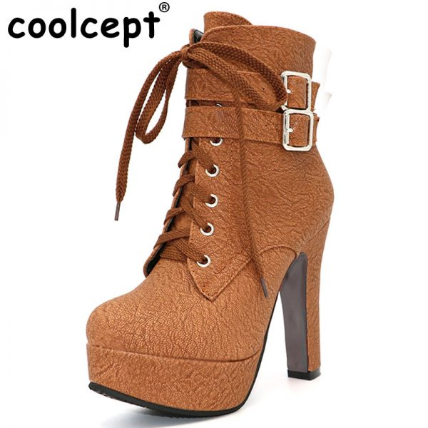 Fashion Women Boots High Heels Ankle Boots