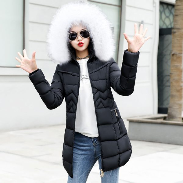Fake Fur Collar, Female Jacket, Female Long Jacket, Long Jacket, Outerwear Down Jacket, Warm Woman Parka, Winter Coat, Winter Jacket, Women Coat