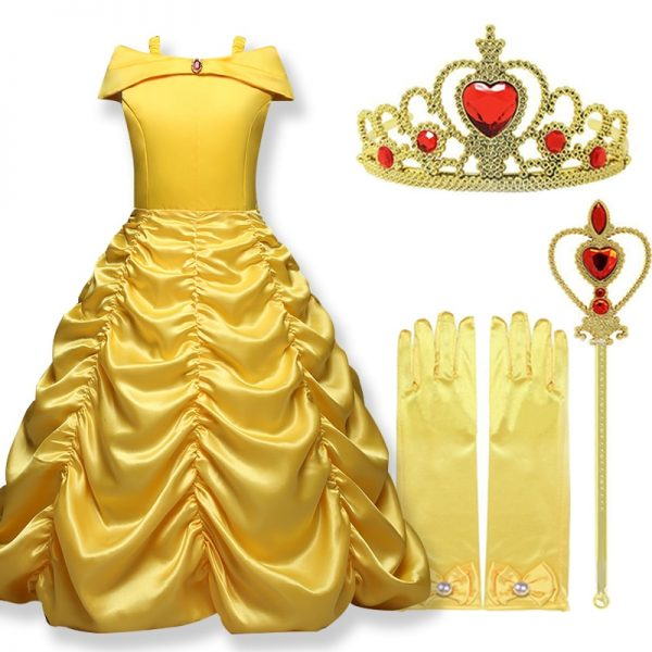 Cosplay Belle Princess Dress Girls Dresses