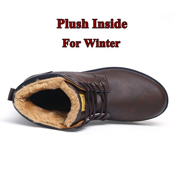 Men's Snow Boots Plush Warm Winter Shoes