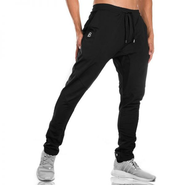 Bodybuilding Joggers Men Casual Pants Cotton Pencil Pants