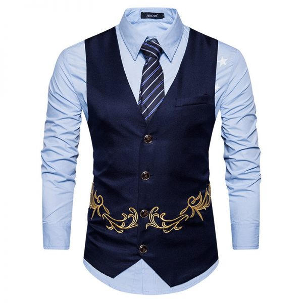 Dress Vests Men Suit Vest Male Waistcoat