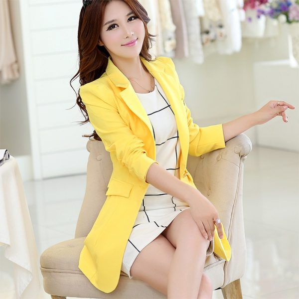 Causal Slim Jackets, Causal Slim Suits, Elegant Blazers, Elegant Women Blazers, Ladies Suits, Long Sleeve Blazer