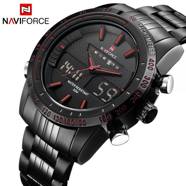 Men Waterproof Full Steel Watches Men's Quartz