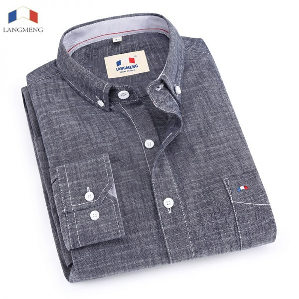 100% Bamboo Cotton Shirt Slim Fit Dress Shirts
