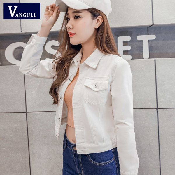 Denim Jacket Women Short Jeans Overcoat