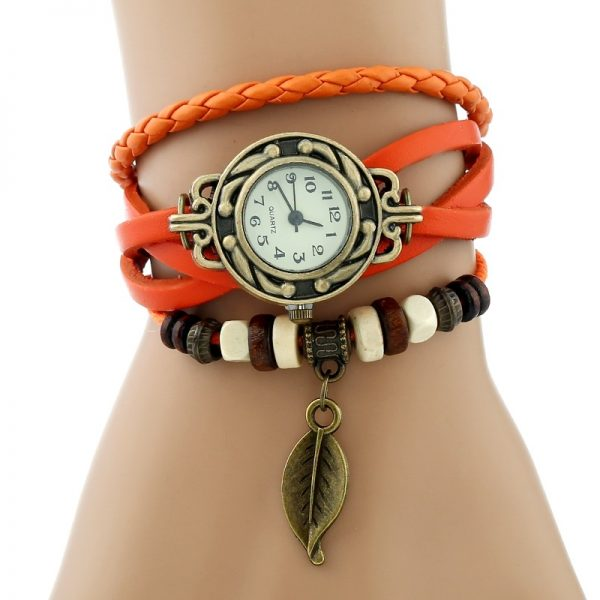 Classic Genuine Leather Bracelet Watch