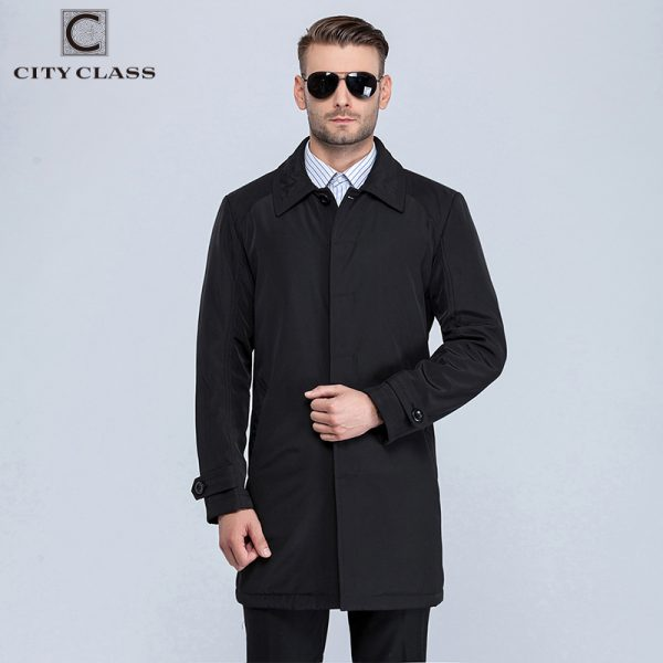 Casual Classic Trench Turn-down Collar Jackets