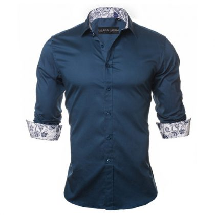 Fashion Casual Men's Shirt Slim Fit Dress