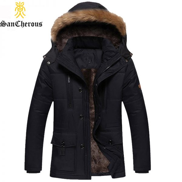 Fashion Style Outerwear Winter Jacket Fur Collar