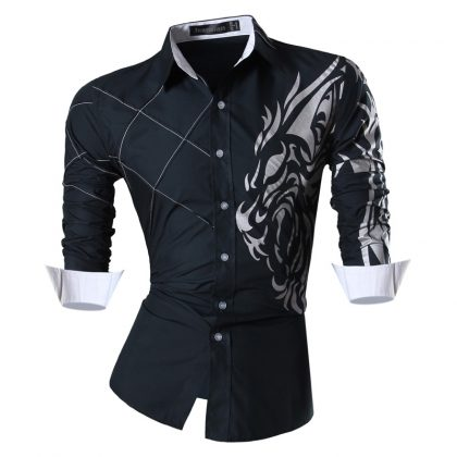 Features Shirts Men Casual Jeans Shirt