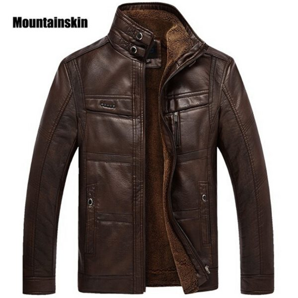 Leather Jacket Men Coats Outerwear
