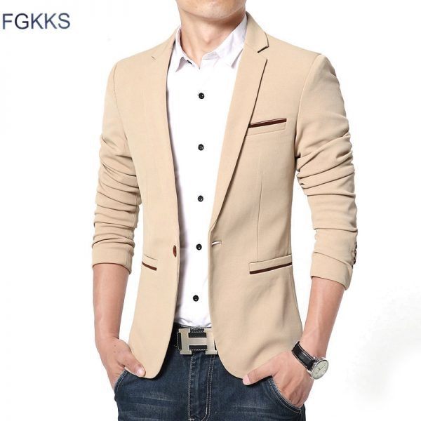 Luxury Men Blazer Slim Fit Suit Masculino Blazers