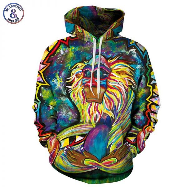 Men 3d Sweatshirts Thin Hooded Hoodies