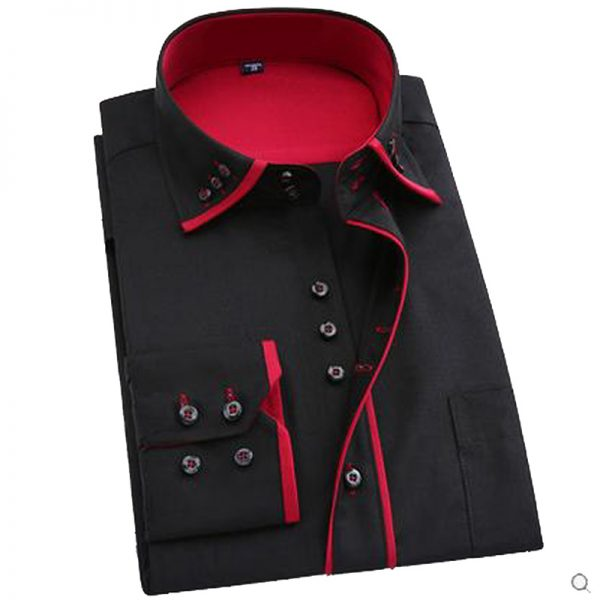 Men Dress Shirt Regular Long Sleeve Shirts