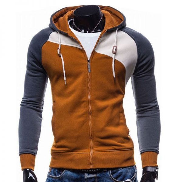Men Leisure Zipper Jacket Hoodie Sweatshirt