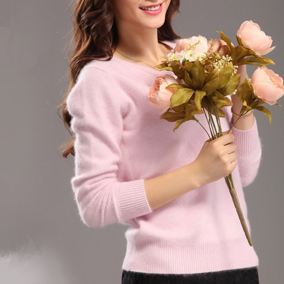 Mink Cashmere Sweaters Women Pullover