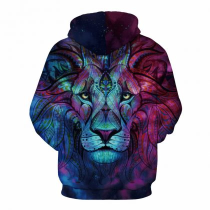 Sweatshirts Print Paisley Flowers Lion Hoodies