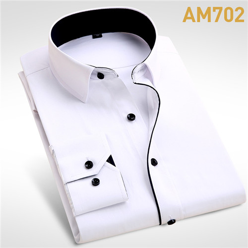 Wedding Shirt Long Sleeve Men Dress Shirt
