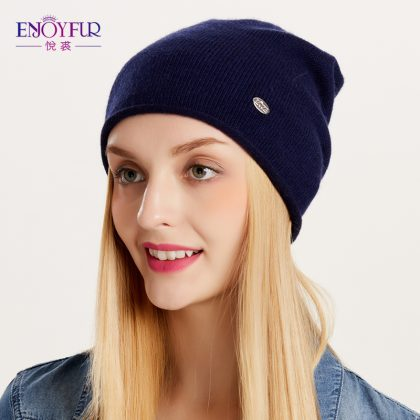 women Knitted Wool Beanies Hat