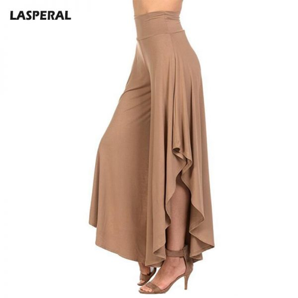 Elegant Irregular Ruffles Wide Leg Pants