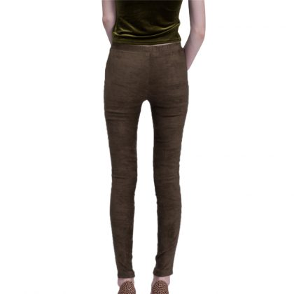 Autumn Winter Faux Suede Leggings