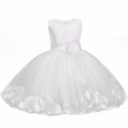 Baby Dress Tutu Flower Round Collar Sleeveless