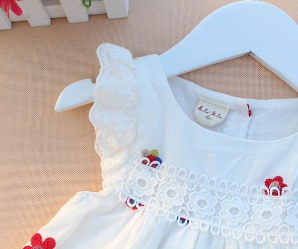 Baby Summer Embroidery Dress Infant Baby
