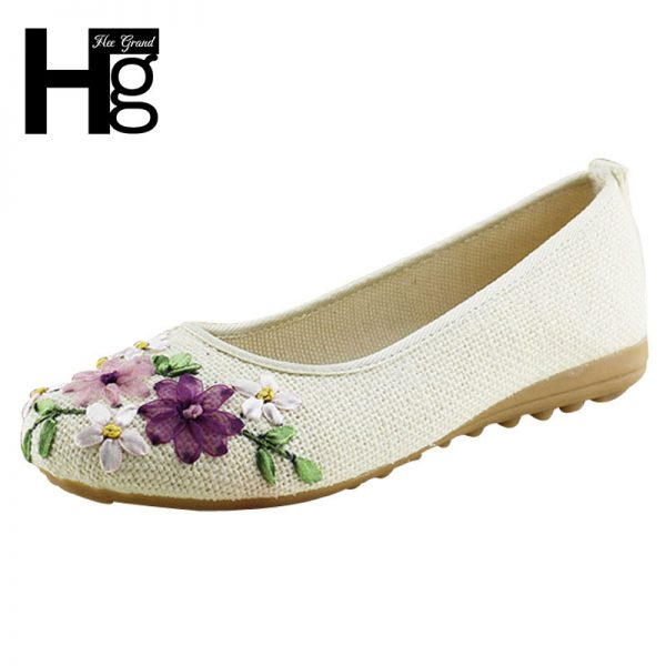 Comfortable Round Toe Flat Shoes Woman