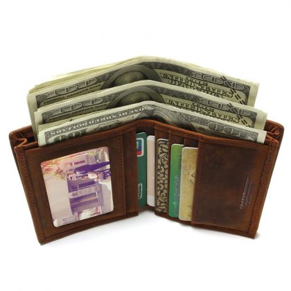 Cowhide Coin Purse Genuine Leather Wallet