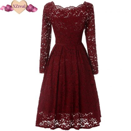 Crochet Lace Dress Rockabilly Party Dresses