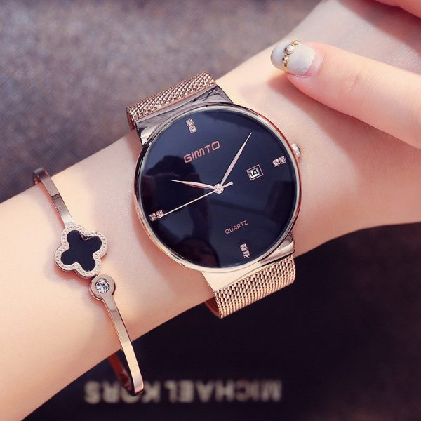 Fashion Ladies Watches Waterproof Clock