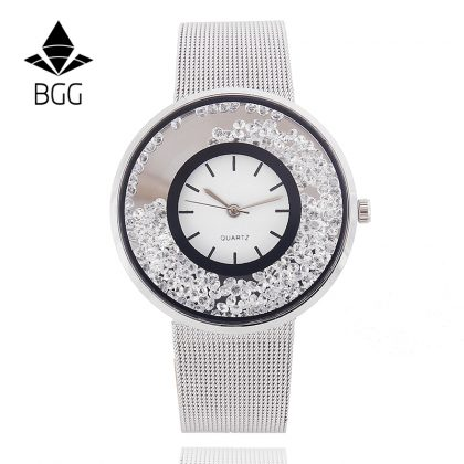 Fashion Stainless Mesh Strap Watch Women