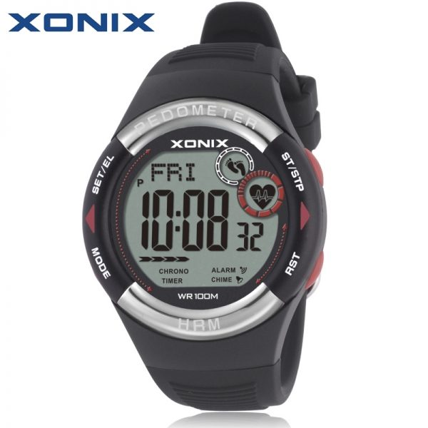 Heart Rate Monitor Calories BMI Men Sports Watches