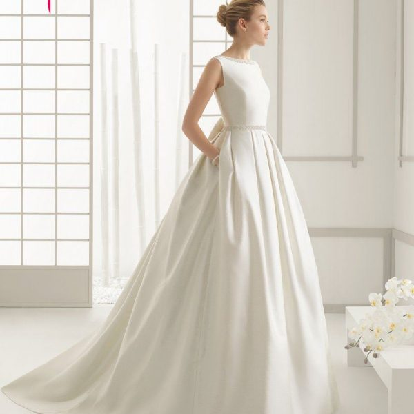 Ivory Stain Wedding Dresses Bridal Gown Party Dress