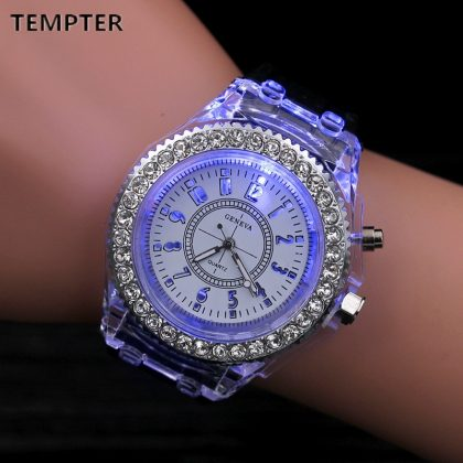 Ladies Outdoor Watch LED Luminous Wrist Watches